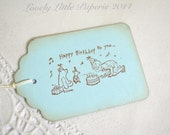 Happy Birthday to You Classic Winnie the Pooh Tags