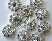 12mm - Clear CRYSTAL RHINESTONE BUTTONS