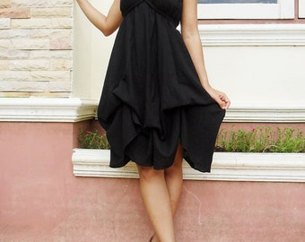 Rose...Black  Dress Cotton/Maxi Dress