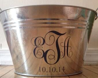 Monogrammed Drink Tub