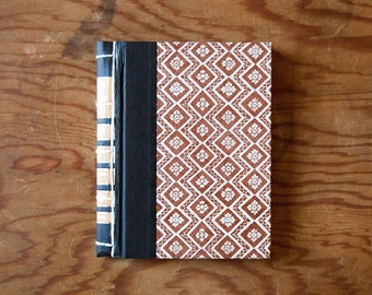 brown handmade journal // hard bound journal