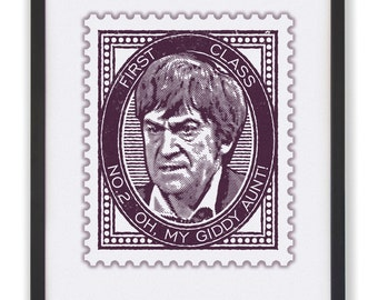 No.2 Oh My Giddy Aunt! - 50 x 40cm Doctor Who Stamp Print