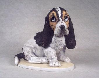 Basset Hound Figurine Basset Hound Figure Dog Ceramic