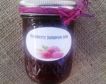 Raspberry Jalapeno Jam/ 8 Oz/ READY To Ship/Currently IN Stock/ Summer Pepper Jam