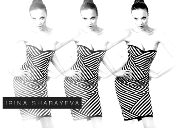 "Irina Shabayeva Signature Stripe ""Braid"" dress."