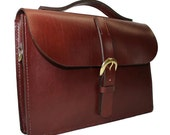 """Brown Fine English Bridle Leather Briefcase 15"""" x 10"""" x 2.5"""""""