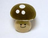 Plush kawaii mushroom toy soft fleece