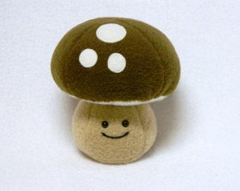 Plush kawaii mushroom toy soft fleece