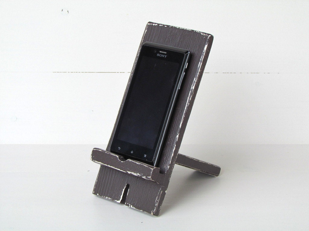 Superb img of IPhone Holder Smartphone Stand Docking Station Wooden by gregolino with #6C655F color and 1024x768 pixels