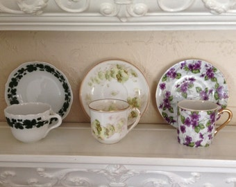 Demitasse, Espresso, Limoges, French, Japanese, Teacups and Saucers [Demi]