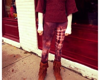 Yoga Leggings Spiral Topaz Tie Dye Festival Psychedelic Burning Man