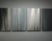 Metal Wall Art Decor Abstract Contemporary Modern Sculpture Hanging Zen Textured- Bamboo Forest