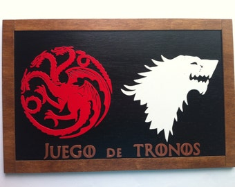 Game of Thrones wooden decoration