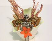 Fairy On A Throne - Tiana (Made with Real Butterfly Wings)