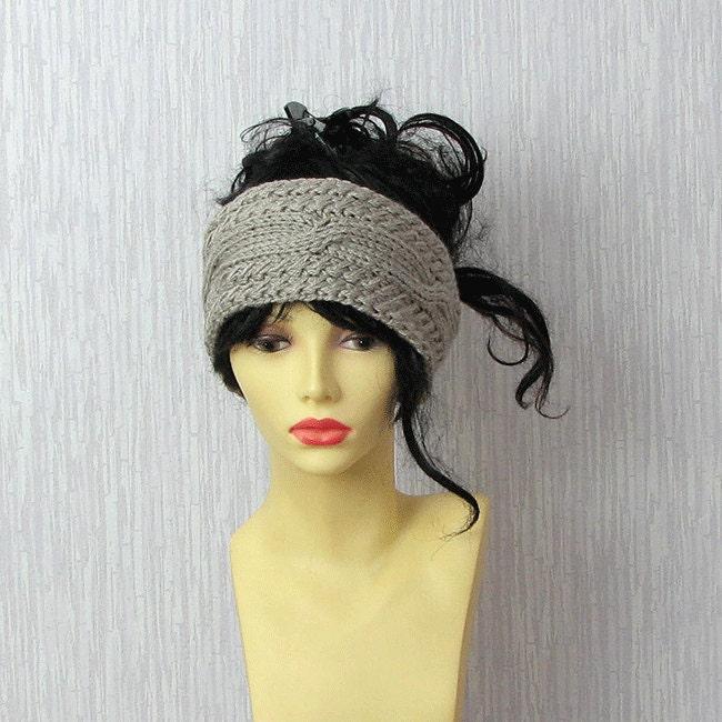 Knitted Headband Chunky Headband Ear Warmer Cabled Headband
