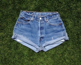 Vintage High Waisted Plain Jane Original Jean Shorts