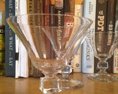 Vintage Cocktail Glasses : Set of 6 matching glasses with gorgeous, unique design (5.75 ounce cocktail glasses)