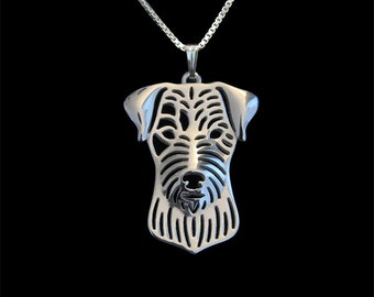 Parson Russell Terrier jewelry - sterling silver pendant and necklace.