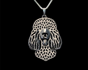 Irish Water Spaniel - sterling silver pendant and necklace