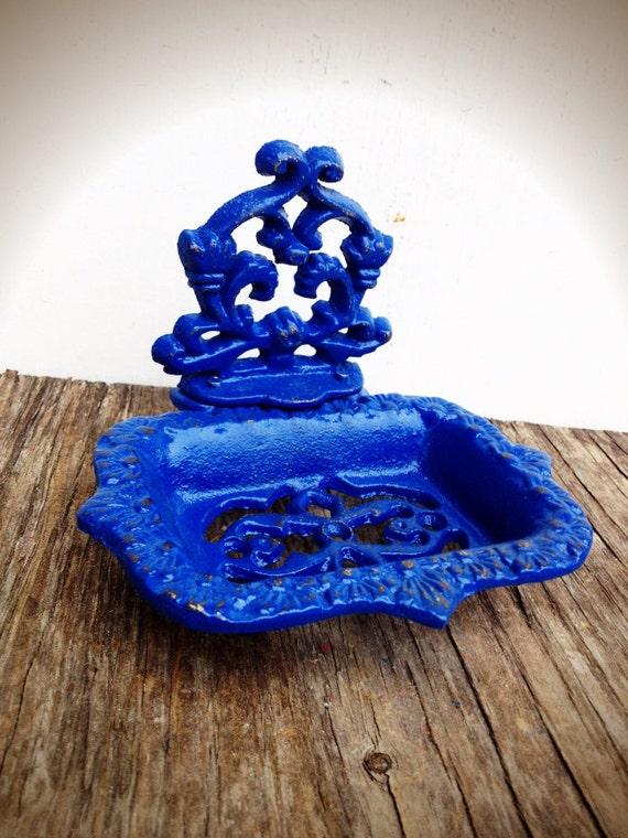 bold royal cobalt blue business card holder soap dish by boldhouse. Black Bedroom Furniture Sets. Home Design Ideas