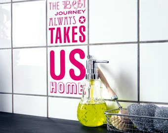 """TILE DECALS - set of 2 - """"COMINGHOME 02"""""""