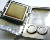 Antique Sterling Silver  Minaudiere  Dance Purse Compact c.1900