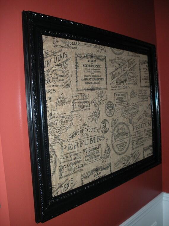large vintage framed cork board framed bulletin board pin. Black Bedroom Furniture Sets. Home Design Ideas