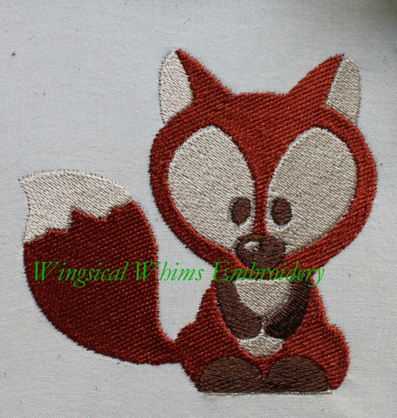 Items similar to fox design digitized machine embroidery