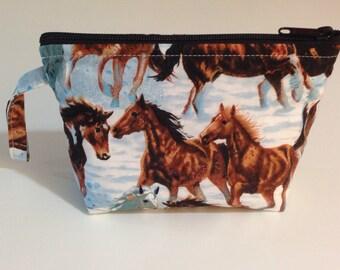 Horse Make Up Bag - Accessory - Cosmetic Bag