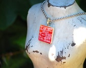 I am not afraid I was born to do this -  Scrabble Tile Resin Necklace