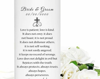 Unity Candle  - Personalized for your wedding