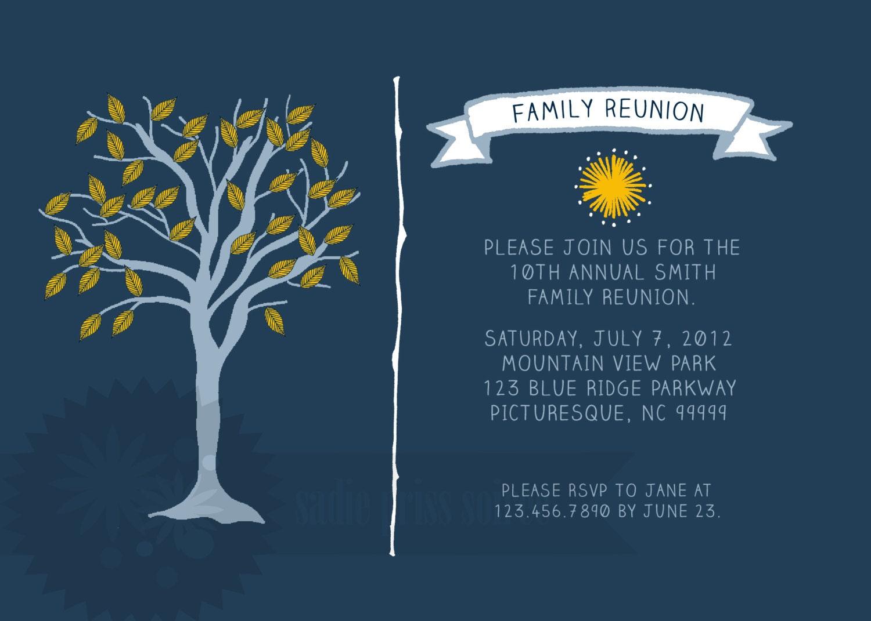 Family Reunion Invitation – Invitations for Family Reunion