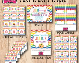 DIY Printable Art Party Package