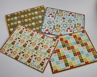 GNOMES & TOADSTOOLS Blank Cards, Set of 4 Note Cards and Envelopes