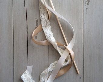 Wedding Ribbon Wands or Streamer- Birthday Party- Rustic Barn Wedding Ribbon Wands Wedding Decorations
