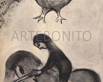 Chagall 'La mari jaloux et cruel' Verve 1950