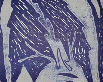 "Dominique Labauvie Original Lithograph ""N8-4"" printed 1988"
