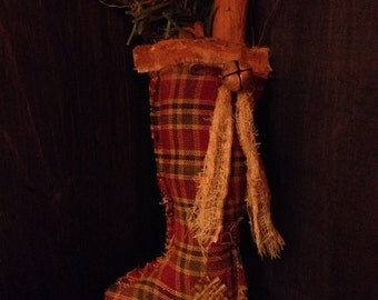 Primitive Christmas Stocking Ornie / Bowl Filler