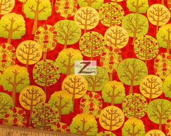 """Fall Fun By Wilmington Prints 100% Cotton Fabric - 45"""" Width Sold By The Yard (FH-936)"""
