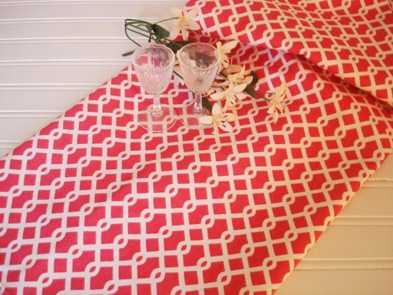 Items similar to table runner coral ellis decorative 13 for Table runners 52 inches