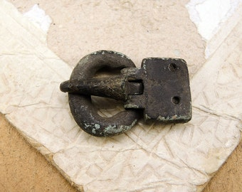 Antique Brass Buckle - archaeological excavations - a79