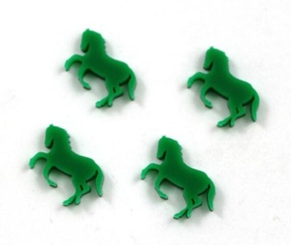 Laser Cut Supplies-8 Pieces. Horses Charm-Laser Cut Acrylic Shape -Little Laser Lab.Online Laser Cutting Australia