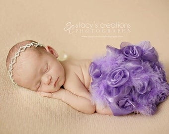Diaper Cover Feather Rose in Light Purple