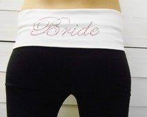 Black Bride Yoga Pants. Bridal Yoga Pants. Custom Bride Yoga Pants. Bride Sweatpants. Bridal Sweatpants. Bride Gift. Bridal Party Pants.