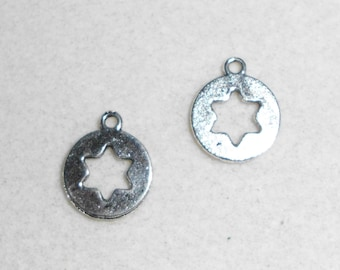 Silver Star Charms