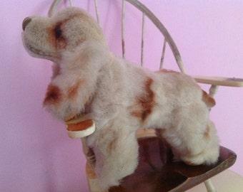 Vintage 60s mohair dog toy cocker spaniel plush collectibles Japan Dakin