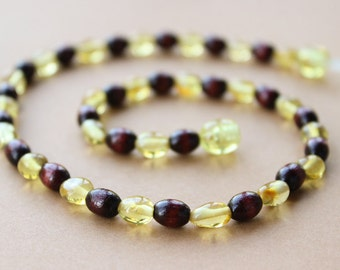 Baltic Amber teething necklace for baby.