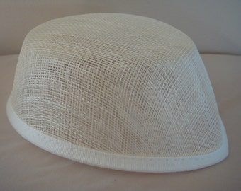 Beige or Black Airhostess Hat Base for Costumes (E-1)