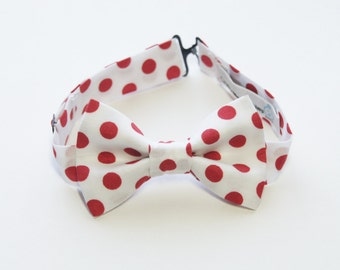 Bow Tie - Red and White Polka Dot Bowtie