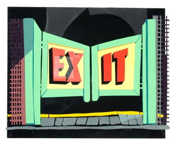 "Coney Island 'souvenir"" print: EXIT"